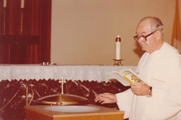 Monsignor Michael Hunt, 1981 | Courtesy of Toni Plummer