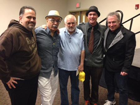 V Zamora, Juan Felipe Herrera, Mike Davis, myself, and Tom Lutz | Photo: Mike Sonksen