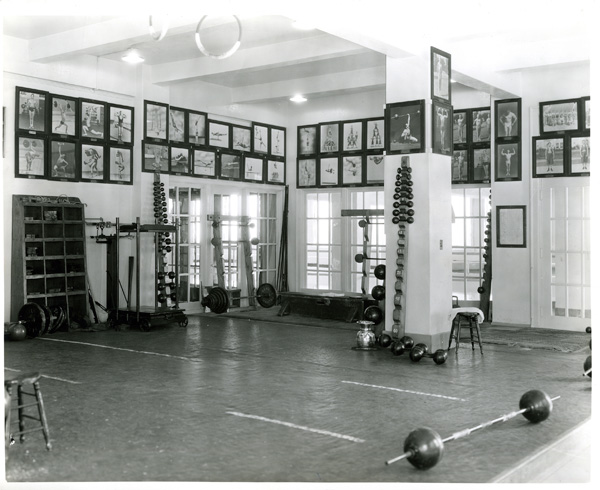 The club's weight room | Photo: Courtesy of the L.A. Athletic Club