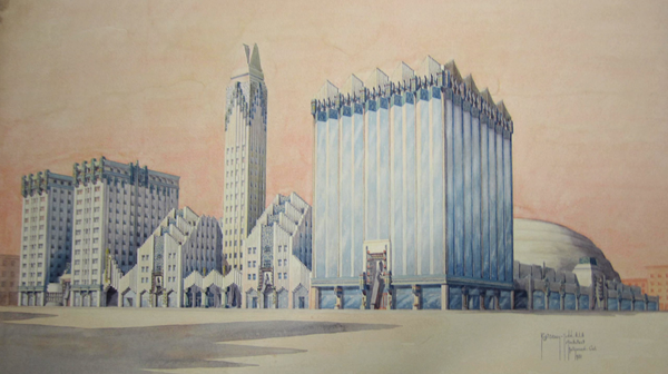 Robert Stacy-Judd's plans for the never-built National Hall in Hollywood | from Never Built: Los Angeles