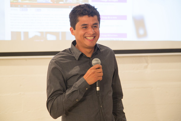 Luis Rivera at the campaign launch event | Photo courtesy of Sabio