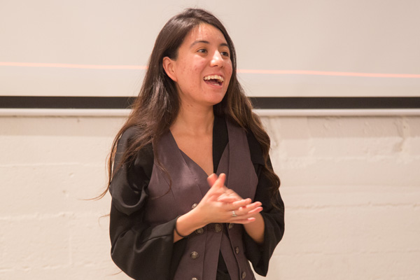 Ashley Lopez at the campaign launch event | Photo courtesy of Sabio