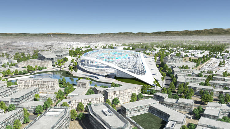 Rendering for new Inglewood NFL stadium | HKS Architects