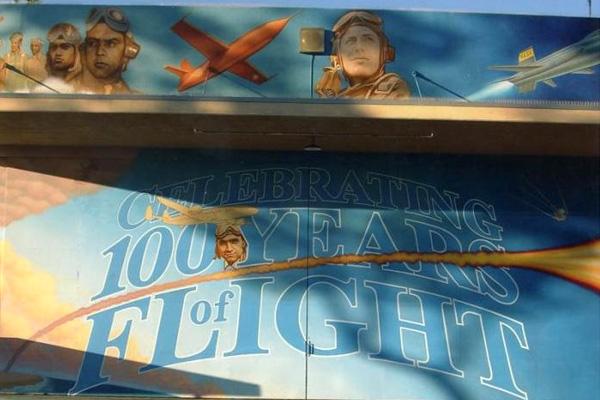 100 Years of Flight Mural by Brad Dutsch