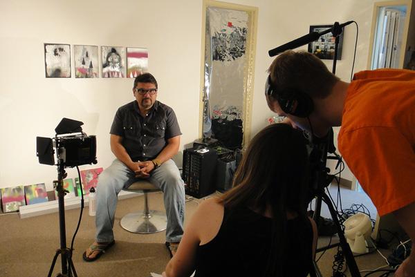 Martin Durazo inside his studio