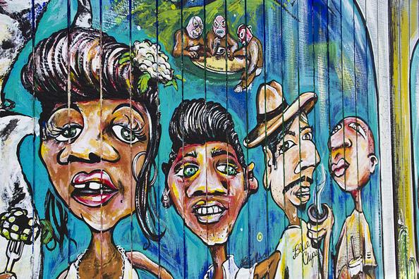 Mural at La Estrella Tacos, Highland Park