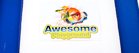 The current Awesome-Playground store sign