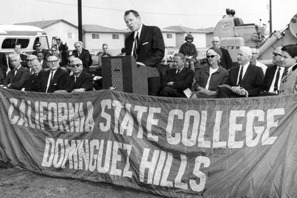 Dominguez Hills Campus Groundbreaking Ceremony 1967 I Photo Courtesy of CSUDH Archives