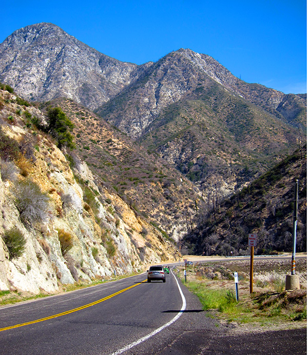 The Angeles Crest Highway below Strawberry Peak today   Photo: Daniel Medina