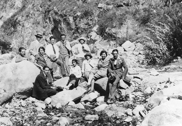 Mexican Americans on outing to the San Gabriel River sponsored by the International Institute, circa 1920 | Courtesy of the Los Angeles Public Library