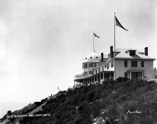 View of Echo Mountain House. | Courtesy of the Los Angeles Public Library