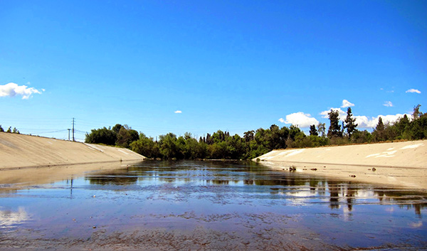 Where the Rio Hondo meets the northern border of the Whittier Narrows | Photo: Daniel Medina