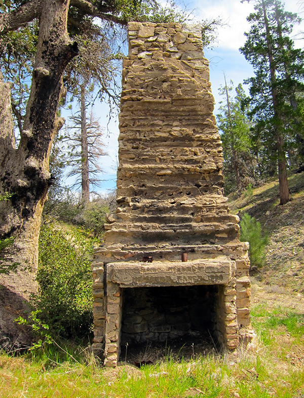 The remains of Louis Newcomb's cabin in Chilao, built in 1910, near Newcomb's Ranch. It was destroyed by the Station Fire in 2009 | Photo: Daniel Medina