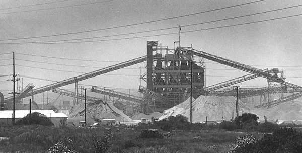 A rock quarry found in the city of Irwindale near the San Gabriel River | Courtesy of the Los Angeles Public Library