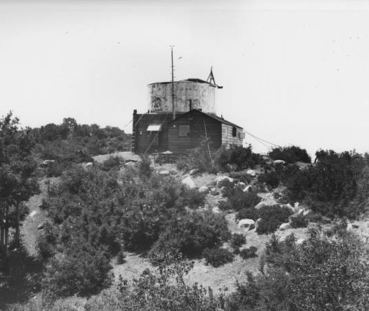Rudimentary observatory on Mount Wilson | Digitally reproduced by the USC Digital Library; From the California Historical Society Collection at the University of Southern California