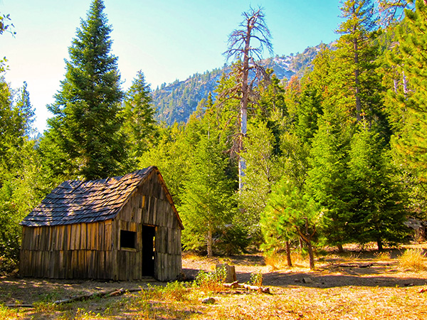 Vincent's cabin still stands today near Mount Baden Powell. It has been partially restored. | Photo: Daniel Medina