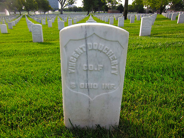 The grave of Charles Vincent Dougherty at the Los Angeles National Cemetary in Westwood. | Photo: Daniel Medina