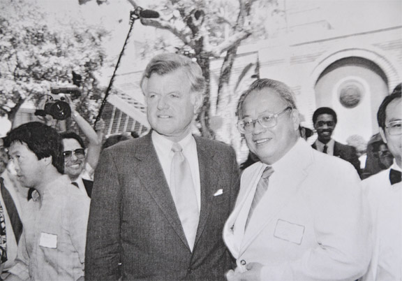 Irvin Lai with Senator Ted Kennedy