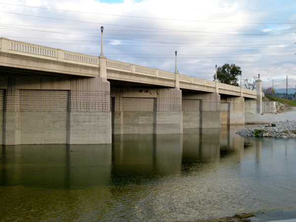 The underside of Fletcher Drive Bridge.
