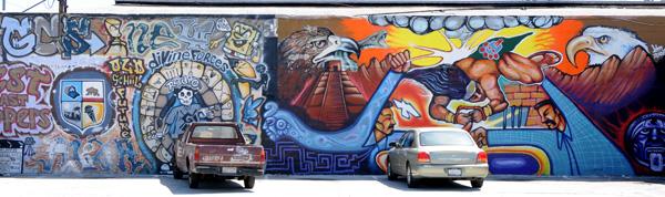 Mural on Figeroa St., Highland Park