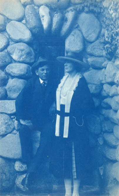Edward Borein was one of the leading artists of Western Scene painting. A close friend of Lummis, Borein married his wife Lucille at El Alisal. 1921. | Photo by Charles Lummis courtesy of The Autry National Center
