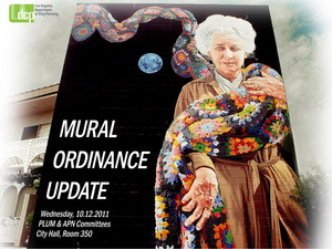 Cover image of a city report on murals presented Wednesday | Photo courtesy City of LA Planning Department