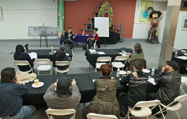 Mural ordinance meeting at Self-Help Graphics I Ed Fuentes