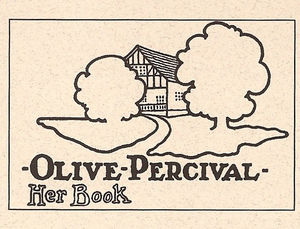 An Olive Percival bookplate, featuring Down-hyl Claim