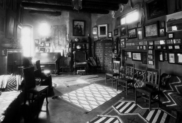 Living room of Lummis' house El Alisal, where he most likely would have partied on his birthday. Photo courtesy of The Autry National Center