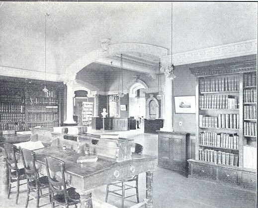 Interior of the Stimson Library, Occidental College. Courtesy of Occidental College Archives and Special Collections.