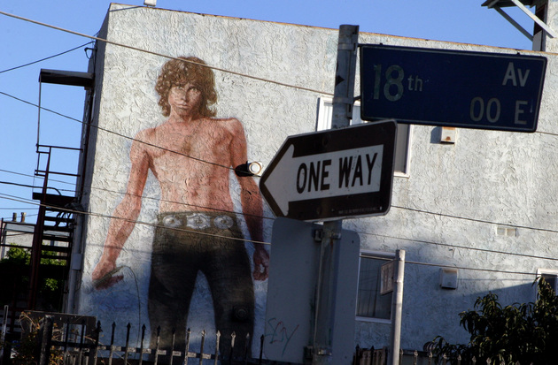 Jim Morrison mural by Cronk I Photo by Jonathan Alcorn