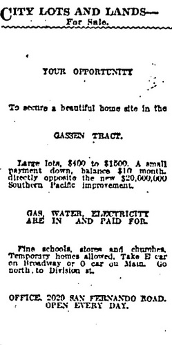 Los Angeles Times ad, June 1, 1924