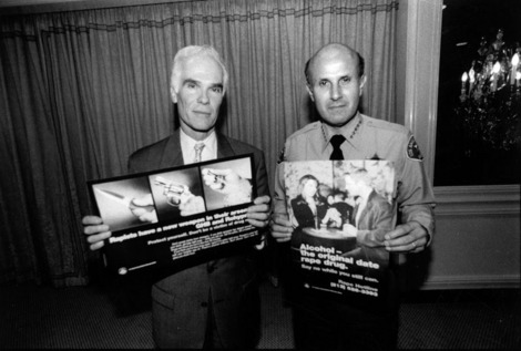 Gil Garcetti and Sheriff Lee Baca | Courtesy of the Los Angeles Public Library