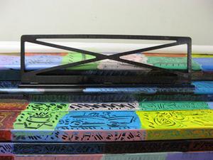 Piano design by muralist Frank Romeo I LACO