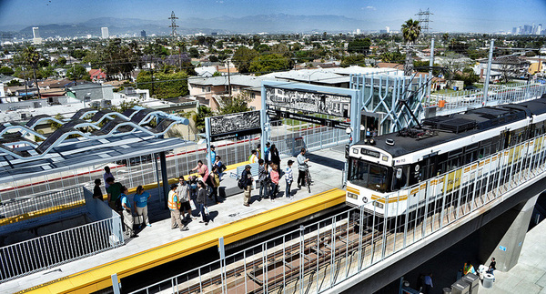 Expo Line at La Cienega/Jefferson | Photo by JulieAndSteve used under Creative Commons