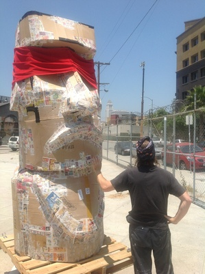 Easter Island in Arts District I Courtesy of artist