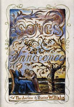 Cover of the original 'Songs of Innocence and Experience' from 1789, printed by Blake himself