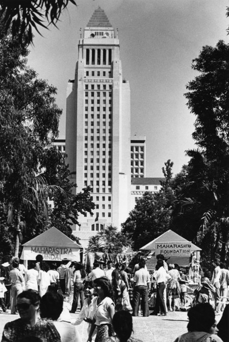 Los Angeles Civic Center Mall was the site for a celebration of India's Independence Day, 1981 | Courtesy of the Los Angeles Public Library