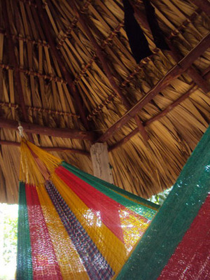 Siesta: A hammock on the patio of Heidy Rodriguez's grandmother's house. Photo courtesy Heidy Rodriguez