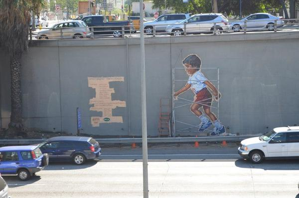'L.A. Freeway Kids' under restoration | Photo © Ian Robertson-Salt