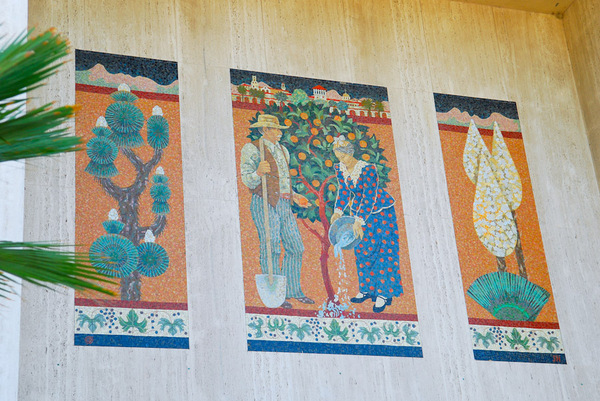 Riverside California is home to a tile mosaic by Millard Sheets' studio I Photo by Bebe Korpko for KCET