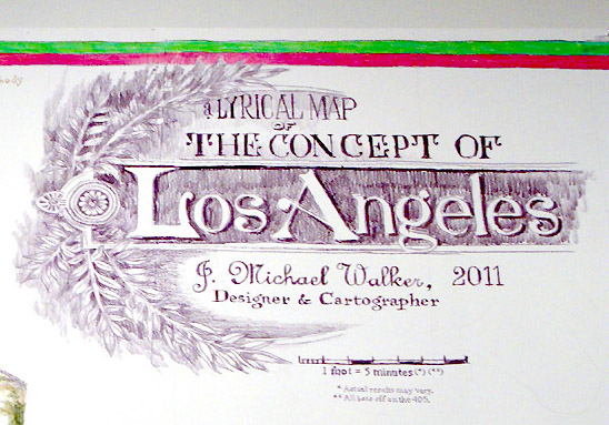 'A Lyrical Map of the Concept of Los Angeles' by J Michael Walker