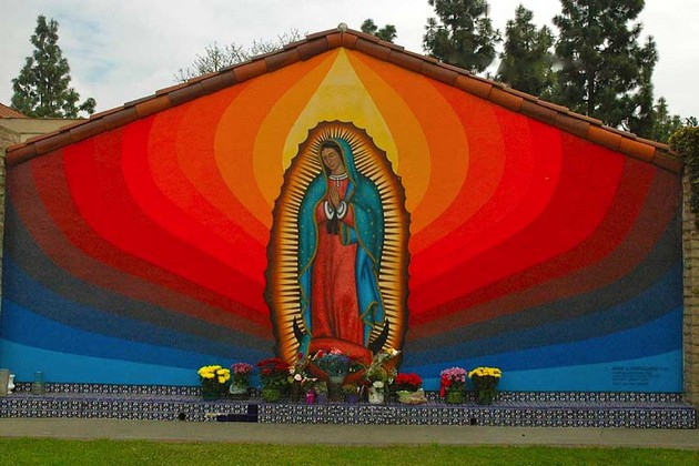 L a chicano mural history documented via san bernardino for Mural chicano