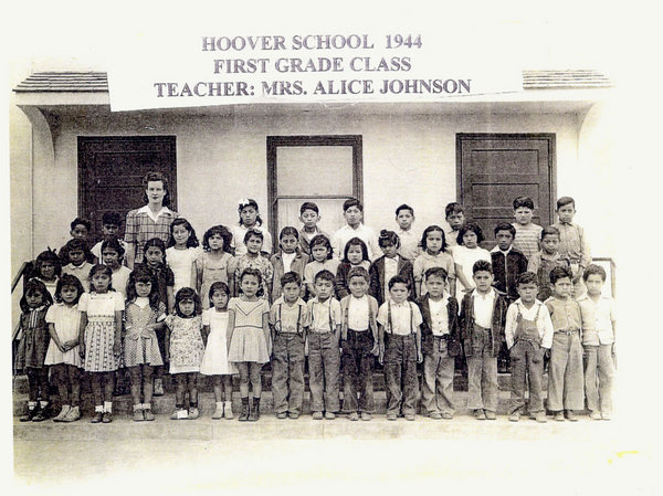 First Grade Class at Hoover School, 1944