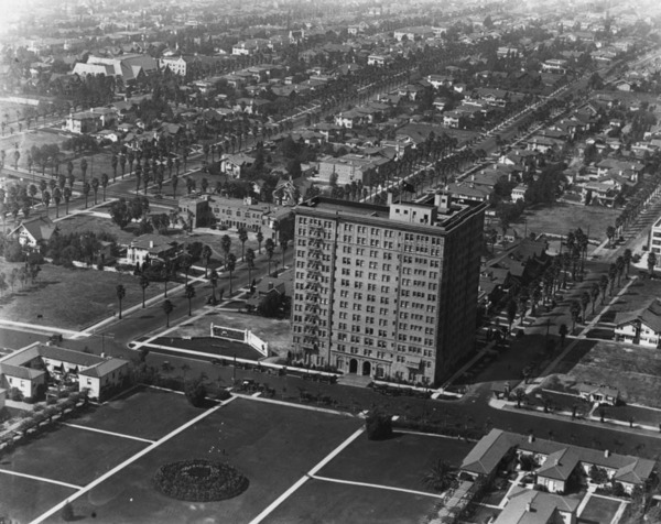 Bon Aerial View Of The Gaylord Apartments, Ca. 1925