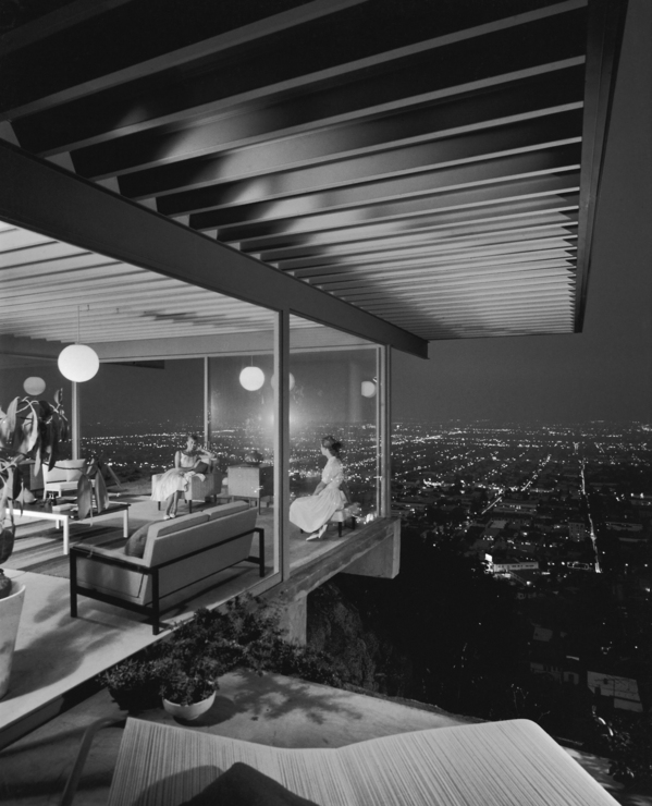 Case Study House No. 22 by Pierre Koenig | Photo by Julius Shuman, 1960. Courtesy of the Getty Trust.