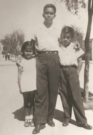 Julio and his younger brother and youngest sister in Guatemala