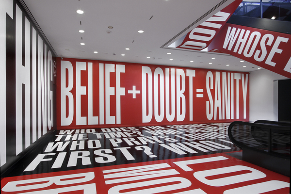 Belief+Doubt at The Hishorn. 2012. © Barbara Kruger I Photo: Cathy Carver