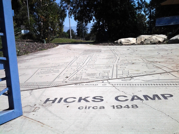 Hicks Camp monument at Rio Vista Park | Photo: Sean Telles