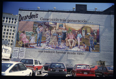 ''Generacion tras generacion'' by Eloy Torrez. Shot by Robin Dunitz in 1988, the final year of murals real freedom to be created I Courtesy USC Digital Library